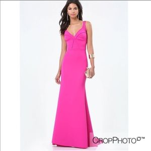 Mermaid bustier gown HOT pink 💕